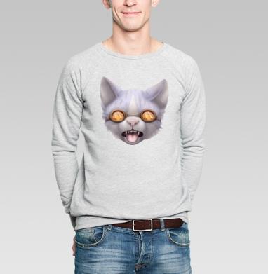 Кот в очках - Купить мужские свитшоты с лицом в Москве, цена мужских свитшотов с лицом  с прикольными принтами - магазин дизайнерской одежды MaryJane