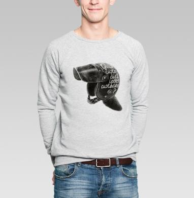 Кто устережёт самих сторожей - Купить мужские свитшоты с цитатами в Москве, цена мужских  с цитатами  с прикольными принтами - магазин дизайнерской одежды MaryJane