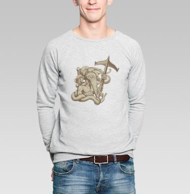 Культист ктулху (белый) - Купить мужские свитшоты секс в Москве, цена мужских свитшотов секс  с прикольными принтами - магазин дизайнерской одежды MaryJane
