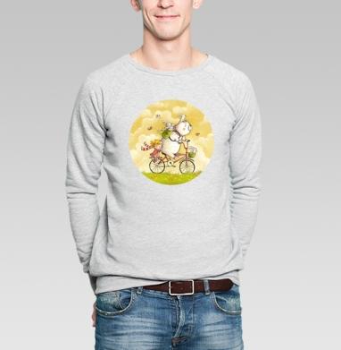 Лето - Купить мужские свитшоты с велосипедом в Москве, цена мужских свитшотов с велосипедом с прикольными принтами - магазин дизайнерской одежды MaryJane