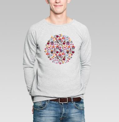 Magic flowers - Купить мужские свитшоты красивые в Москве, цена мужских свитшотов красивых  с прикольными принтами - магазин дизайнерской одежды MaryJane