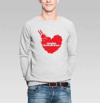 Make love&war - Купить мужские свитшоты с оружием в Москве, цена мужских свитшотов с оружием  с прикольными принтами - магазин дизайнерской одежды MaryJane