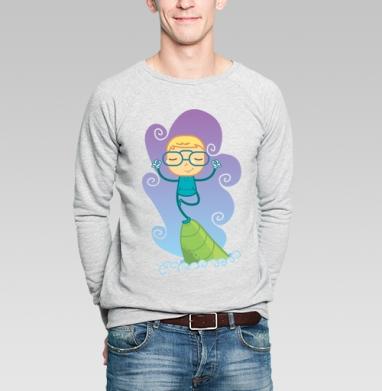 Медитация - Купить мужские свитшоты с йогой в Москве, цена мужских свитшотов с йогой  с прикольными принтами - магазин дизайнерской одежды MaryJane