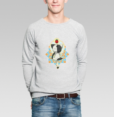 Meditation - Купить мужские свитшоты с йогой в Москве, цена мужских свитшотов с йогой  с прикольными принтами - магазин дизайнерской одежды MaryJane