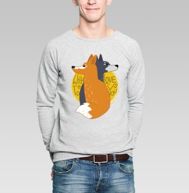 Moon - Купить мужские свитшоты с волками в Москве, цена мужских  с волками  с прикольными принтами - магазин дизайнерской одежды MaryJane