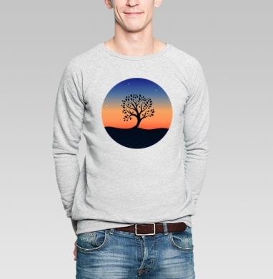 Наедине с собой - Купить мужские свитшоты с природой в Москве, цена мужских свитшотов с природой  с прикольными принтами - магазин дизайнерской одежды MaryJane