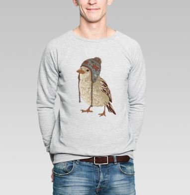 Птица в шапке - Купить мужские свитшоты Новый год в Москве, цена мужских  новогодних  с прикольными принтами - магазин дизайнерской одежды MaryJane