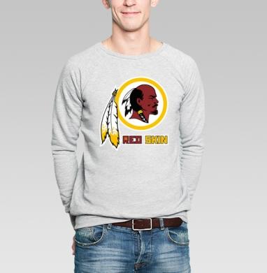 RED SKIN - Купить мужские свитшоты с индейцами в Москве, цена мужских свитшотов с индейцами  с прикольными принтами - магазин дизайнерской одежды MaryJane