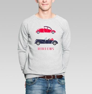 Retro cars - Купить мужские свитшоты винтажные в Москве, цена мужских свитшотов винтажных  с прикольными принтами - магазин дизайнерской одежды MaryJane