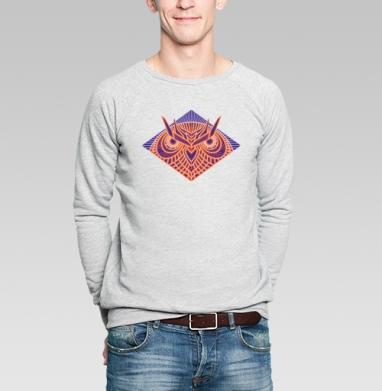 Сова - Купить мужские свитшоты с геометрическим рисунком в Москве, цена мужских свитшотов с геометрическим рисунком  с прикольными принтами - магазин дизайнерской одежды MaryJane