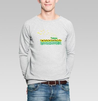 Sunflowers - Купить мужские свитшоты с летом в Москве, цена мужских  с летом  с прикольными принтами - магазин дизайнерской одежды MaryJane