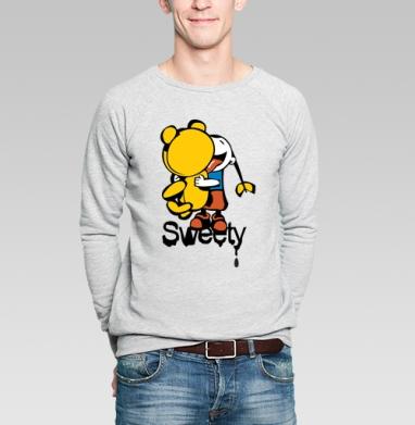 Sweety - Купить мужские свитшоты сладости в Москве, цена мужских свитшотов со сладостями  с прикольными принтами - магазин дизайнерской одежды MaryJane