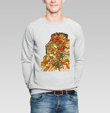 Весна - Купить мужские свитшоты с солнцем в Москве, цена мужских свитшотов с солнцем  с прикольными принтами - магазин дизайнерской одежды MaryJane