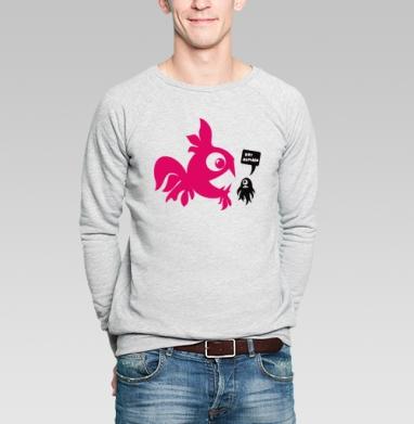 Waternonproof - Купить мужские свитшоты с рыбой в Москве, цена мужских свитшотов с рыбой  с прикольными принтами - магазин дизайнерской одежды MaryJane