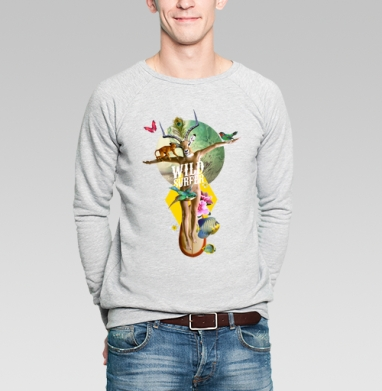 Wild surfer - Купить мужские свитшоты с йогой в Москве, цена мужских свитшотов с йогой  с прикольными принтами - магазин дизайнерской одежды MaryJane