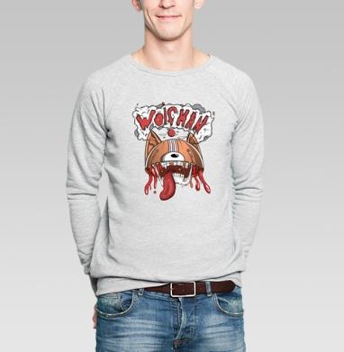 Wolfman - Купить мужские свитшоты с волками в Москве, цена мужских  с волками  с прикольными принтами - магазин дизайнерской одежды MaryJane