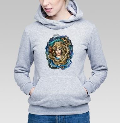 Зодиак ВОДОЛЕЙ  - Толстовка Женская серый меланж 340гр, теплый, olkabalabolka, Новинки