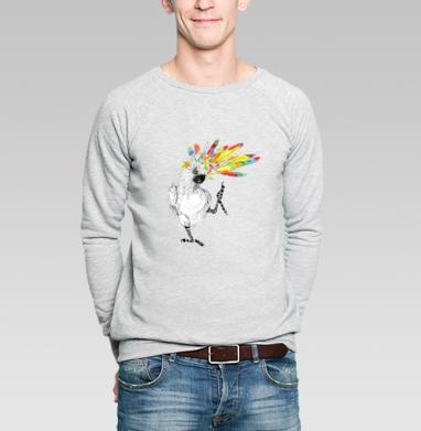 ТАНЦЫ попугайцы - Купить мужские свитшоты с птицами в Москве, цена мужских свитшотов с птицами  с прикольными принтами - магазин дизайнерской одежды MaryJane