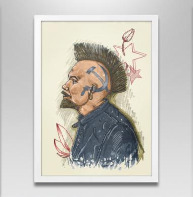 Панкомолот - Постер в белой раме, татуировки