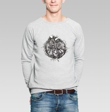 Венок - Купить мужские свитшоты с черепом в Москве, цена мужских  с черепом  с прикольными принтами - магазин дизайнерской одежды MaryJane