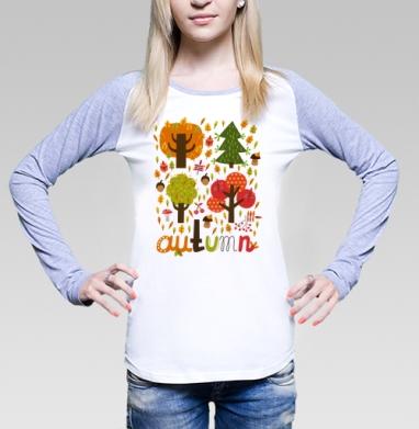 Autumn, Футболка лонгслив женская бело-серая