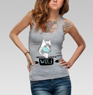 Борцовка женская чёрная рибана 200гр - Wolf