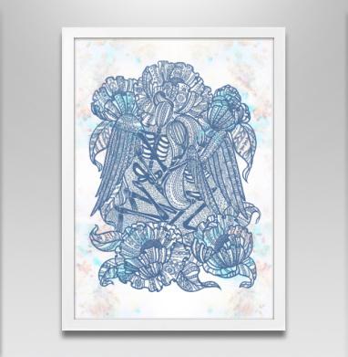 Вечная любовь  - Постер в белой раме, Крылья