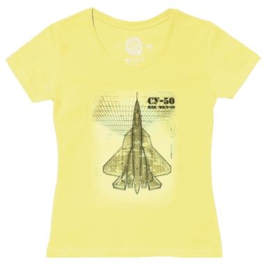 Футболка женская желтая - Самолет