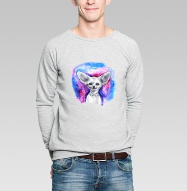 Фенек - Купить мужские свитшоты с акварелью в Москве, цена мужских свитшотов с акварелью  с прикольными принтами - магазин дизайнерской одежды MaryJane