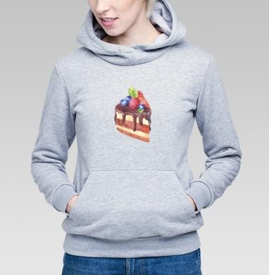 Тортик с ягодами  - Купить детские толстовки сладости в Москве, цена детских толстовок со сладостями  с прикольными принтами - магазин дизайнерской одежды MaryJane