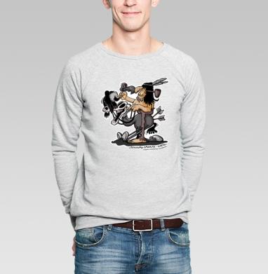ЛОШАДЬ СДОХЛА -СЛЕЗЬ - Купить мужские свитшоты с индейцами в Москве, цена мужских свитшотов с индейцами  с прикольными принтами - магазин дизайнерской одежды MaryJane