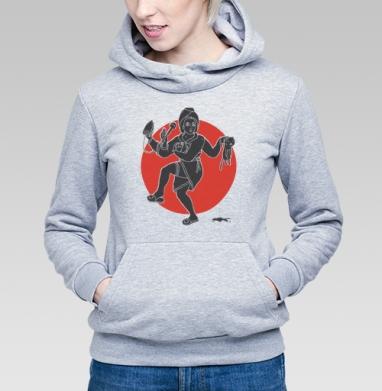 ХОЗЯЮШКА ШИВА - Толстовка Женская серый меланж 340гр, теплая, Купить толстовки победителей
