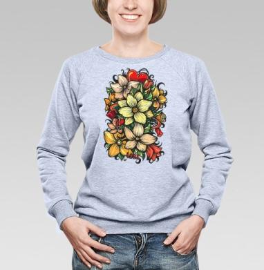 Цветы и любовь - Купить детские свитшоты паттерн в Москве, цена детских свитшотов с паттерном  с прикольными принтами - магазин дизайнерской одежды MaryJane