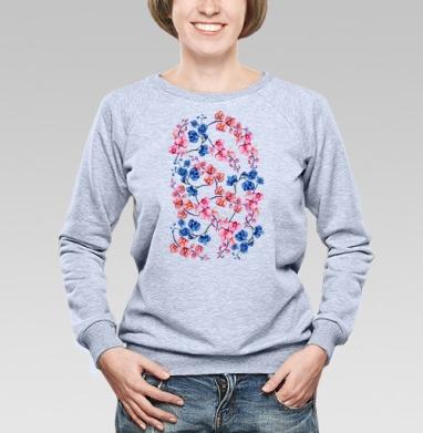 Орхидеи  - Купить детские свитшоты паттерн в Москве, цена детских свитшотов с паттерном  с прикольными принтами - магазин дизайнерской одежды MaryJane