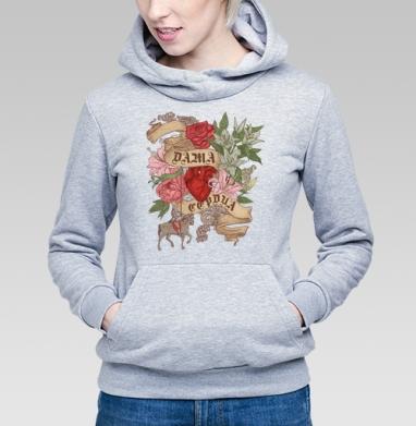 Дама сердца - Купить детские толстовки с роами в Москве, цена детских толстовок с розой с прикольными принтами - магазин дизайнерской одежды MaryJane