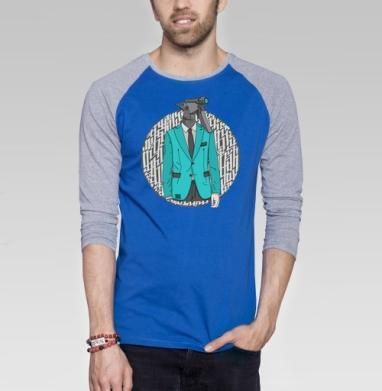Распылитель - Футболка мужская с длинным рукавом синий / серый меланж, персонажи, Популярные