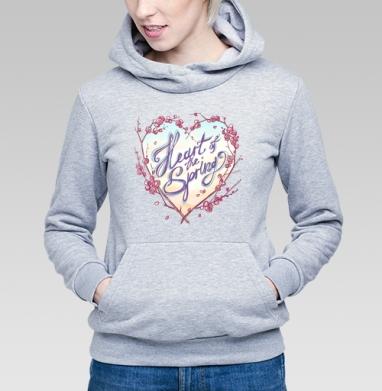 Сердце весны - Купить детские толстовки нежность в Москве, цена детских толстовок нежность  с прикольными принтами - магазин дизайнерской одежды MaryJane