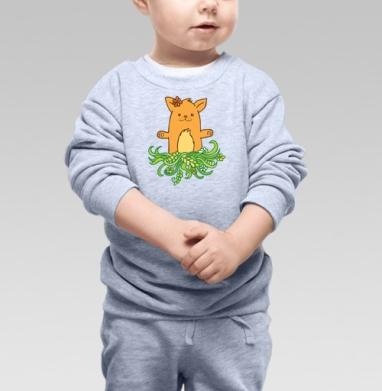 Cвитшот Детский серый меланж - Весенние восторги