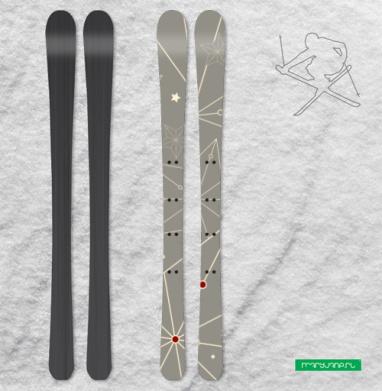 Звездный паттерн - Наклейки на лыжи