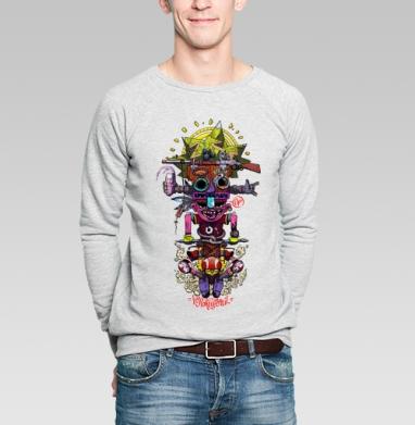 Тотем для реальных райдеров - Купить мужские свитшоты с велосипедом в Москве, цена мужских свитшотов с велосипедом с прикольными принтами - магазин дизайнерской одежды MaryJane