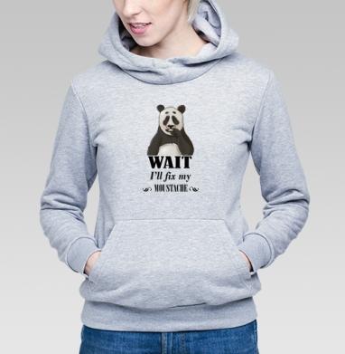 Усатая панда - Купить детские толстовки с усами в Москве, цена детских толстовок с усами с прикольными принтами - магазин дизайнерской одежды MaryJane