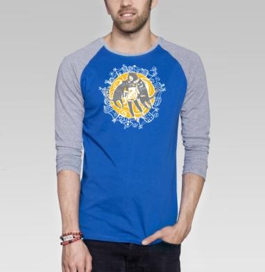 Street Cats - Футболка мужская с длинным рукавом синий / серый меланж, город, Популярные