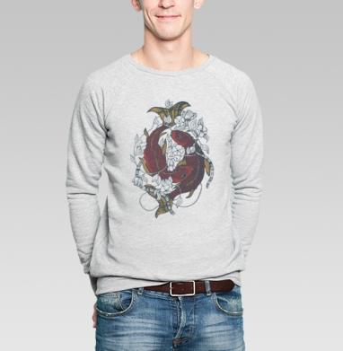 Красные карпы - Купить мужские свитшоты с рыбой в Москве, цена мужских свитшотов с рыбой  с прикольными принтами - магазин дизайнерской одежды MaryJane