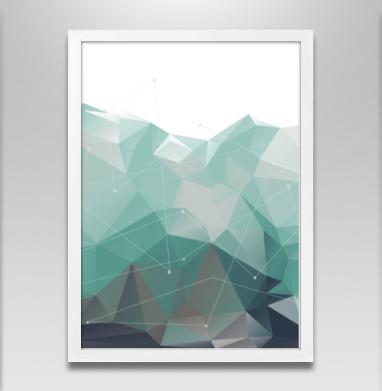 Геометрия Айсберга - Постер в белой раме, геометрия