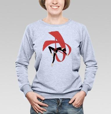 Гимнастка на воздушных полотнах - Купить детские свитшоты спортивные в Москве, цена детских свитшотов спортивных  с прикольными принтами - магазин дизайнерской одежды MaryJane