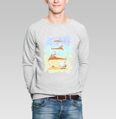 Птахи морские - Купить мужские свитшоты с летом в Москве, цена мужских  с летом  с прикольными принтами - магазин дизайнерской одежды MaryJane