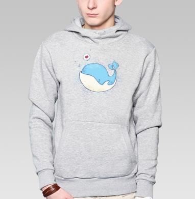 Влюбленный кит - Толстовки.