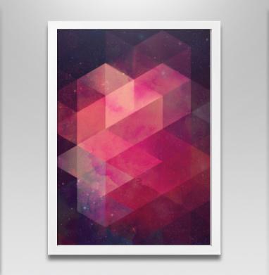 Вспышка - Постер в белой раме, геометрия
