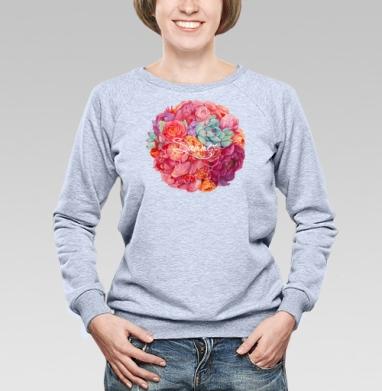 Летнее настроение - Купить женские свитшоты с роами в Москве, цена женских свитшотов с розой с прикольными принтами - магазин дизайнерской одежды MaryJane