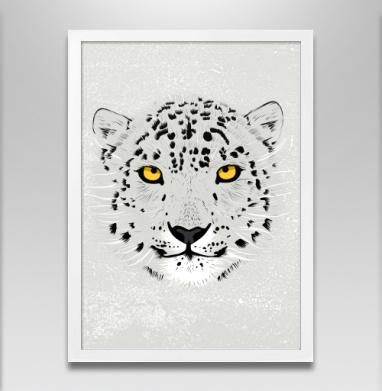 Бааарсик - Постер в белой раме, серый